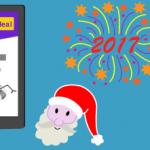 illustration of the new year animation bar plugin for WordPress