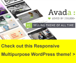Banner Avada WordPress Theme