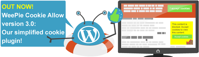 Banner launch of the simplified version of the weepie cookie allow plugin